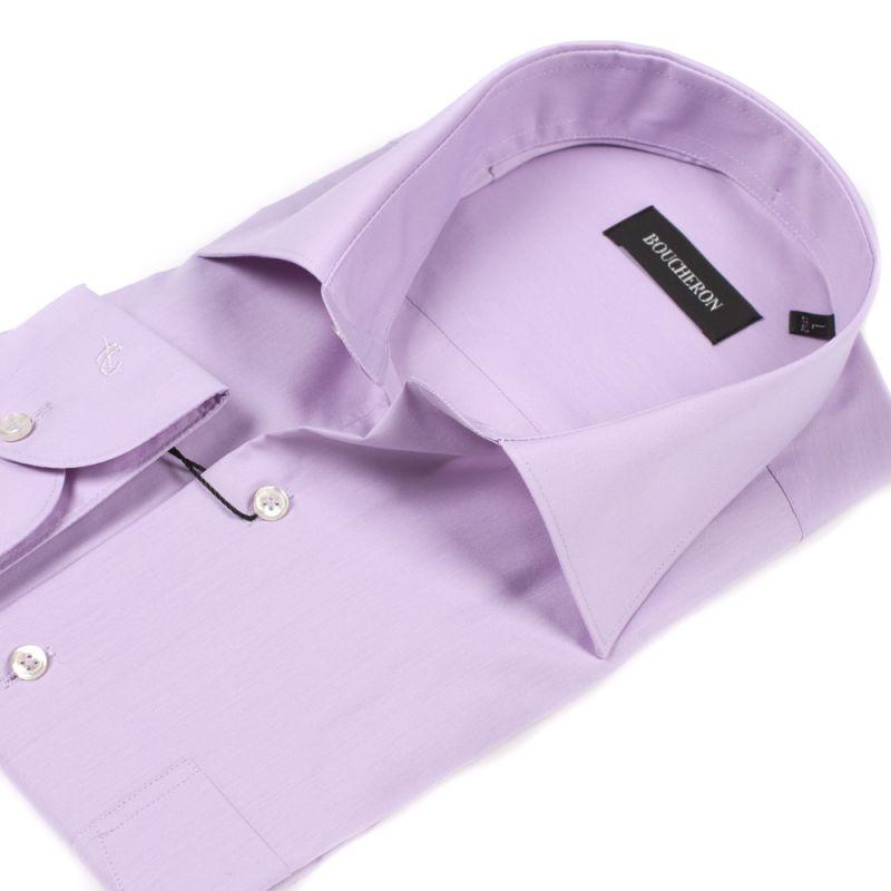 Рубашка сиреневая однотонная неприталенная