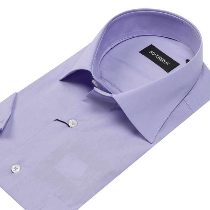 Рубашка лиловая с короткими рукавами неприталенная