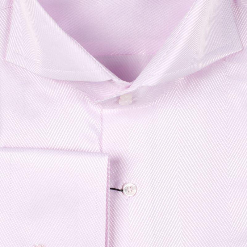 Рубашка розовая в ёлочку на высокий рост