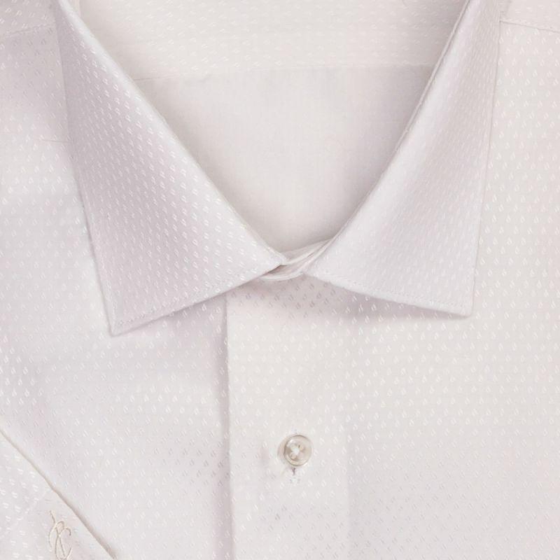 Рубашка айвори с выделкой, с короткими рукавами, приталенная