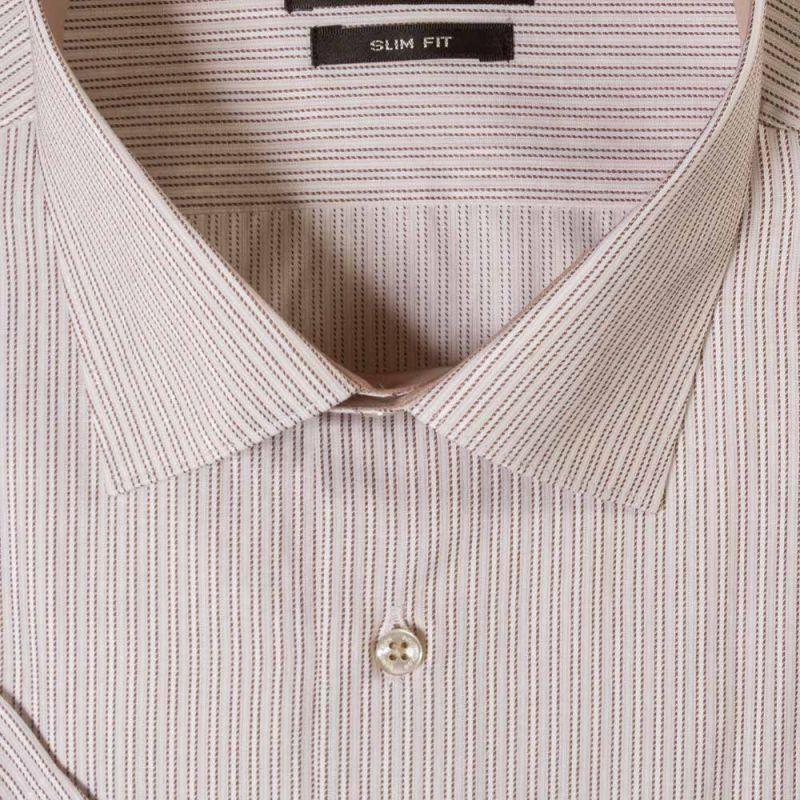 Рубашка в полоску с короткими рукавами приталенная