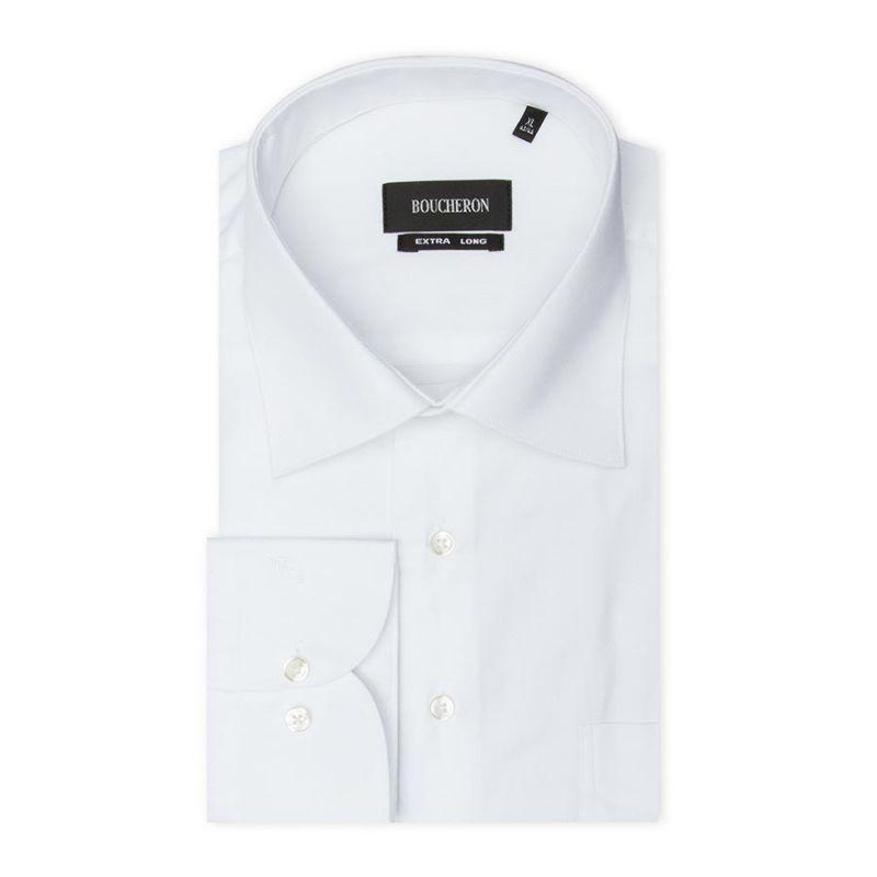Рубашка белая, удлинённая, неприталенная