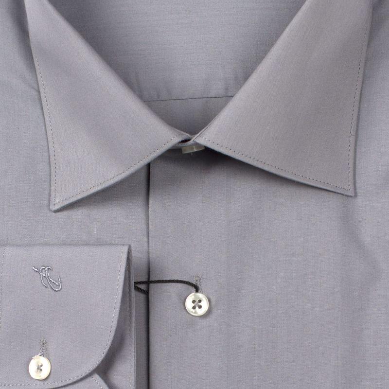 Рубашка серая однотонная неприталенная
