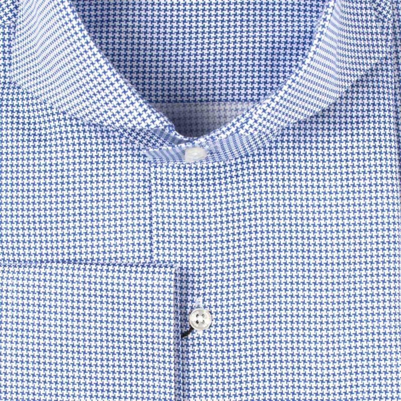 Рубашка синяя в звёздочку неприталенная удлинённая