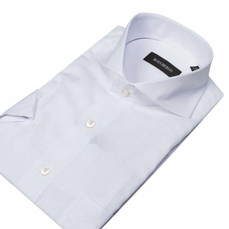 Рубашка белая с короткими рукавами, неприталенная