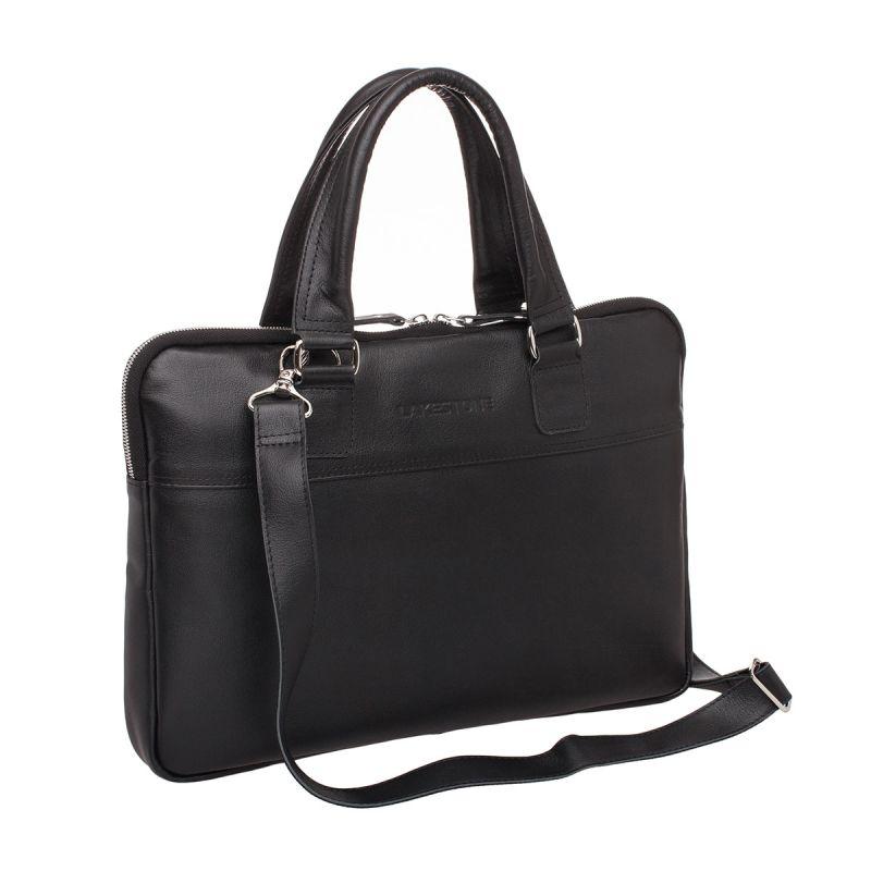 Кожаная сумка Lakestone Anson Black