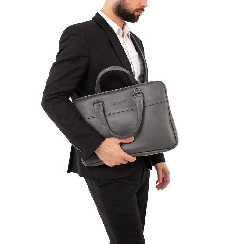 Кожаная сумка Lakestone Anson Grey