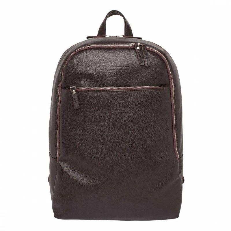 Кожаный рюкзак Lakestone Faber Brown