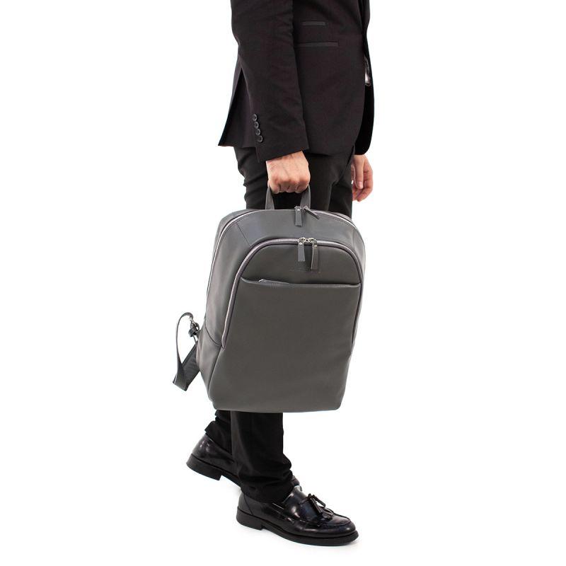 Кожаный рюкзак Lakestone Faber Grey