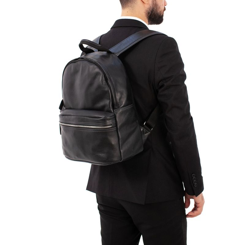 Кожаный рюкзак Lakestone Keppel Black