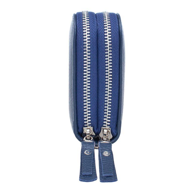 Мужской кожаный клатч Lakestone Bantry Dark Blue, тёмно-синий