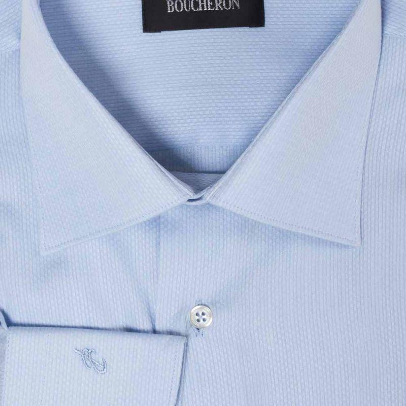 Рубашка голубая с выделкой неприталенная