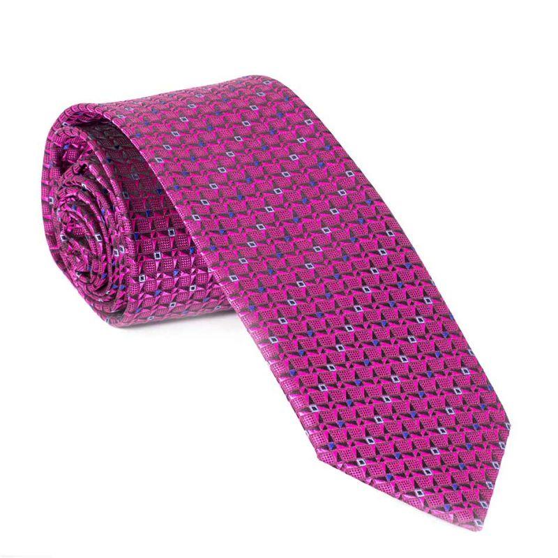 Галстук фиолетовый с узором