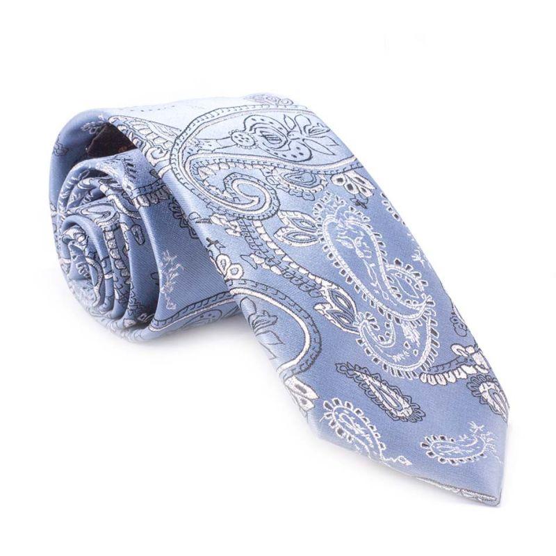 Галстук бледно-голубой с узором