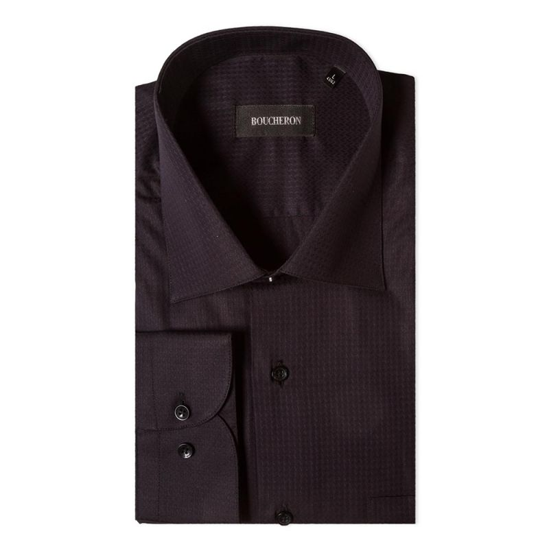 Рубашка черная с выделкой неприталенная