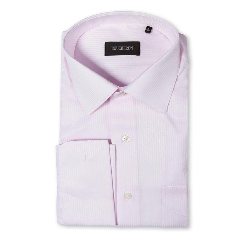 Розовая рубашка в полоску неприталенная