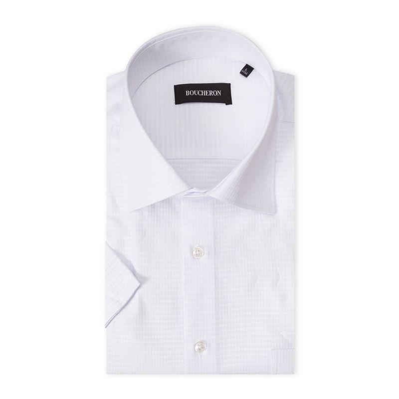 Рубашка белая с выделкой, неприталенная