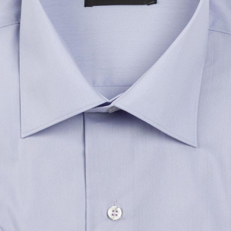 Рубашка голубая с короткими рукавами неприталенная