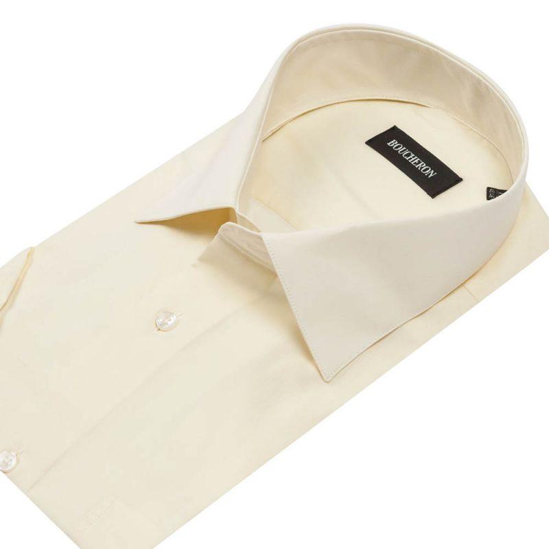 Рубашка айвори с короткими рукавами неприталенная