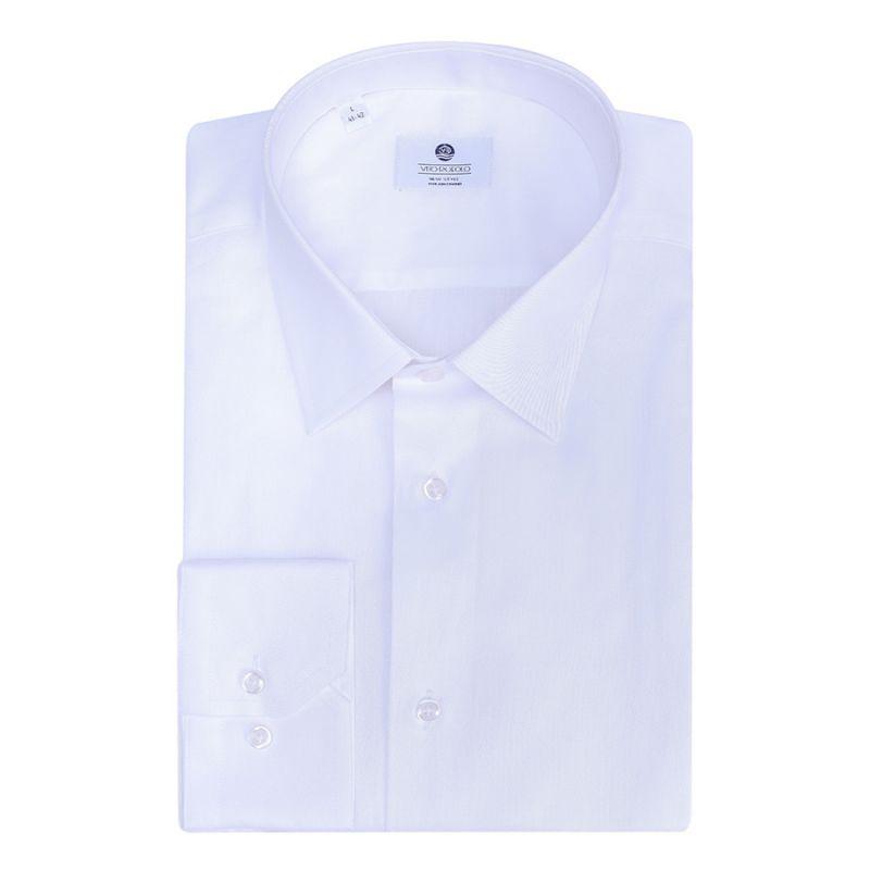Рубашка белая с выделкой полуприталенная