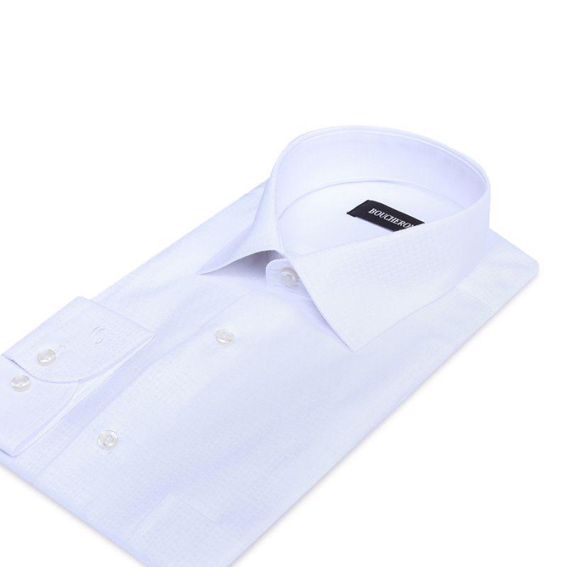 Рубашка белая однотонная неприталенная