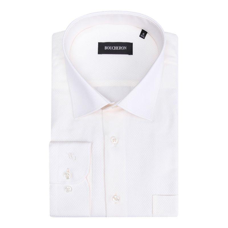 Рубашка айвори однотонная и неприталенная