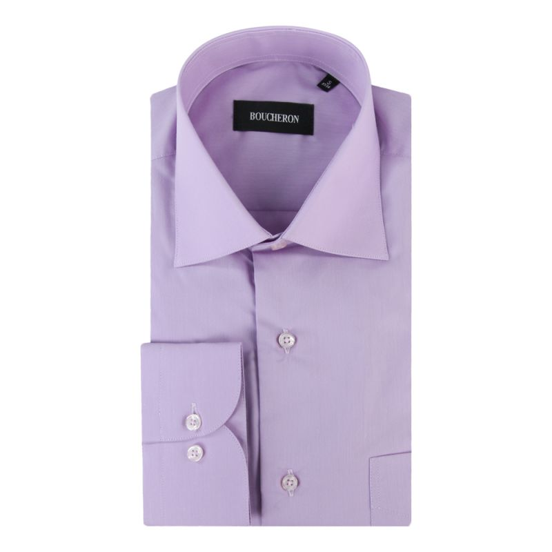 Рубашка сиреневая, удлинённая, неприталенная