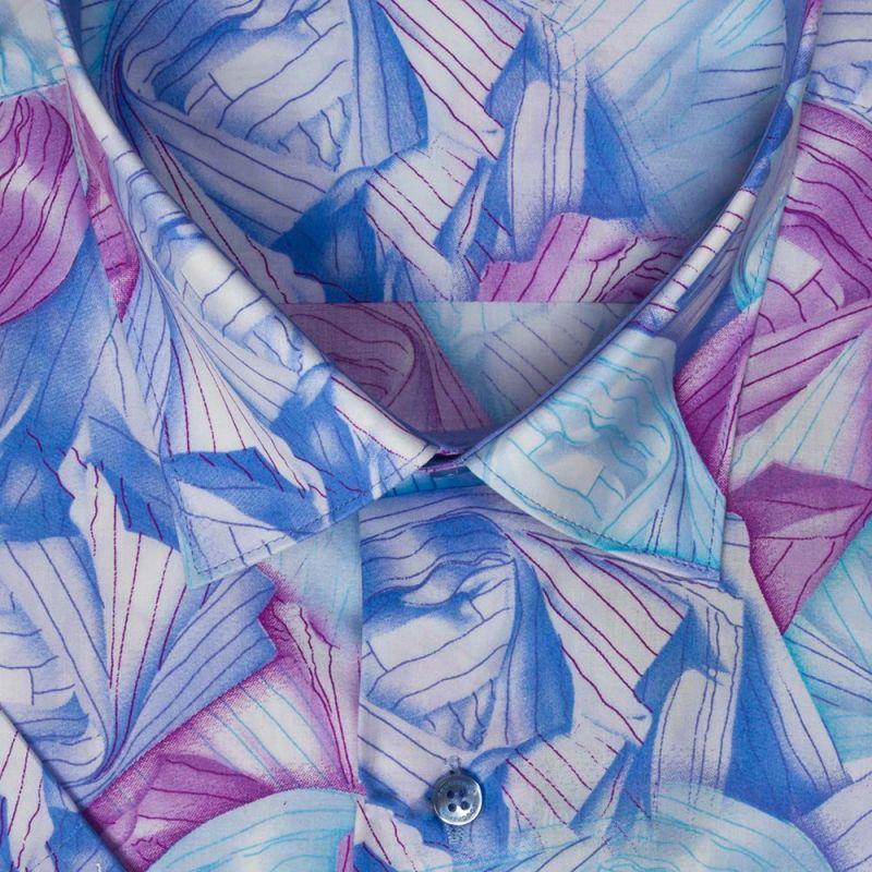 Рубашка гавайская с короткими рукавами, неприталенная