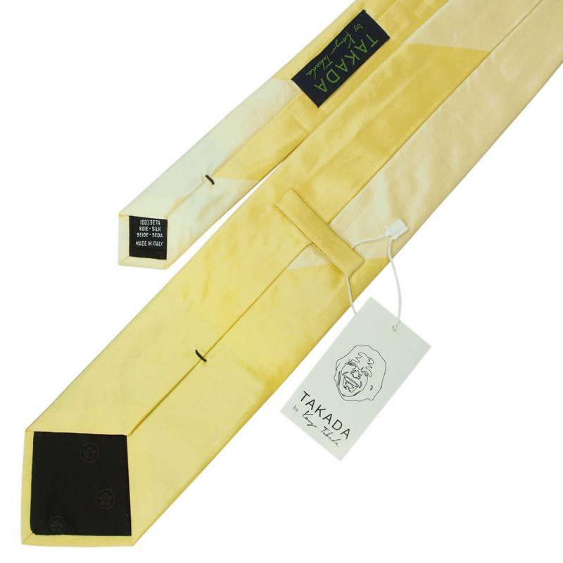 Жёлтый галстук Kenzo Takada в двух оттенках