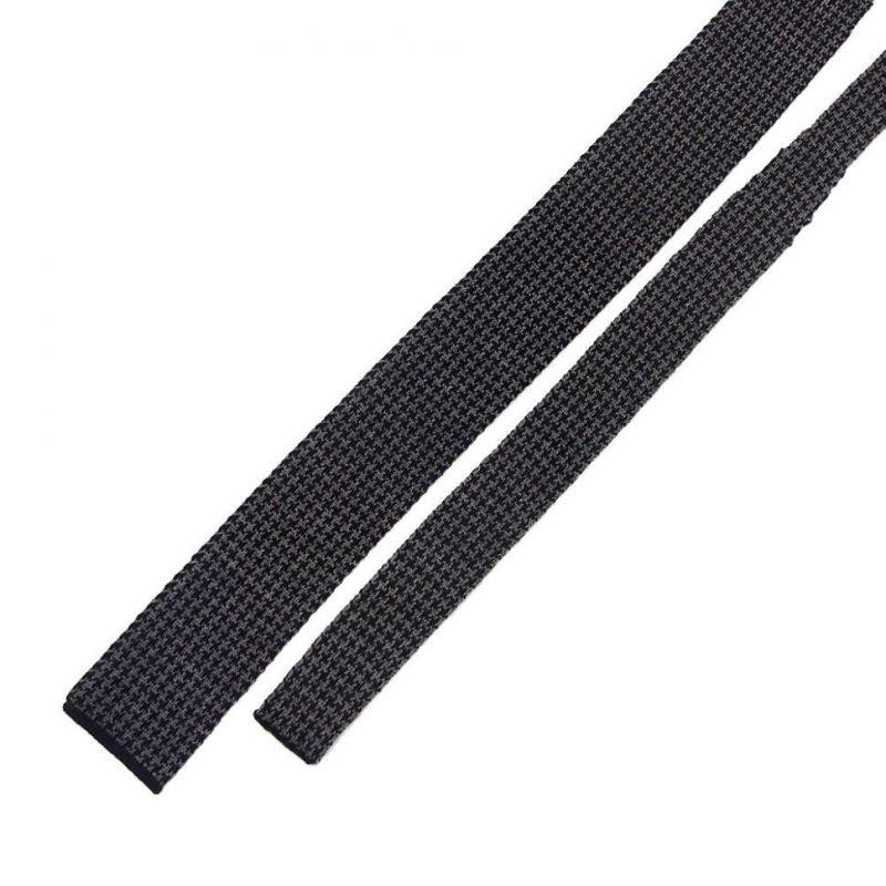 Темно-серый вязаный галстук Valentino
