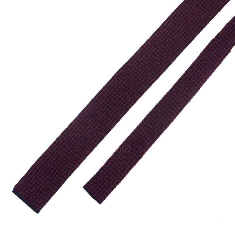 Вязаный бордовый галстук из шерсти Valentino
