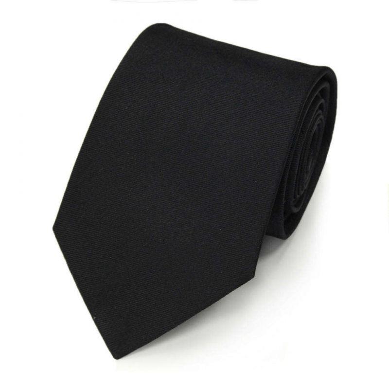 Чёрный галстук с вышивкой – лыжником из шёлка Valentino