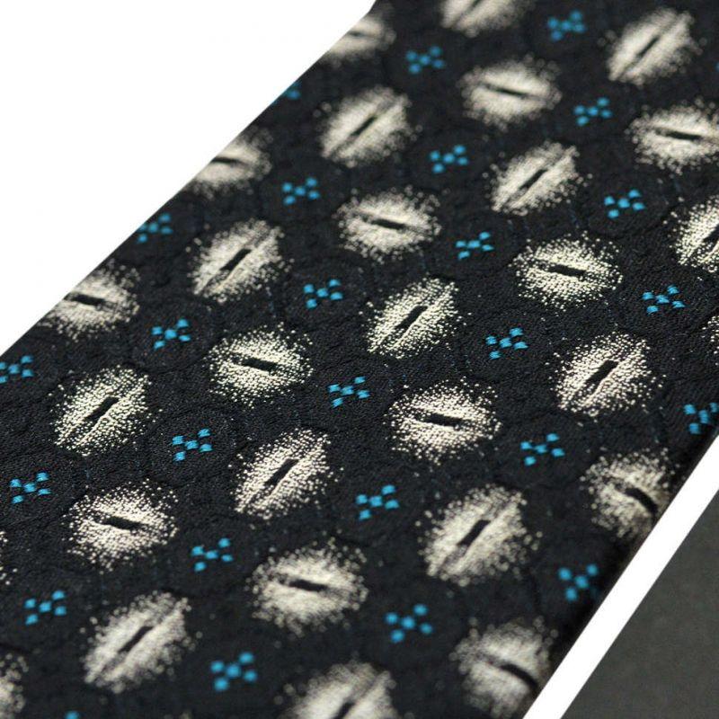 Чёрный галстук с цветной абстракцией из шёлка Valentino