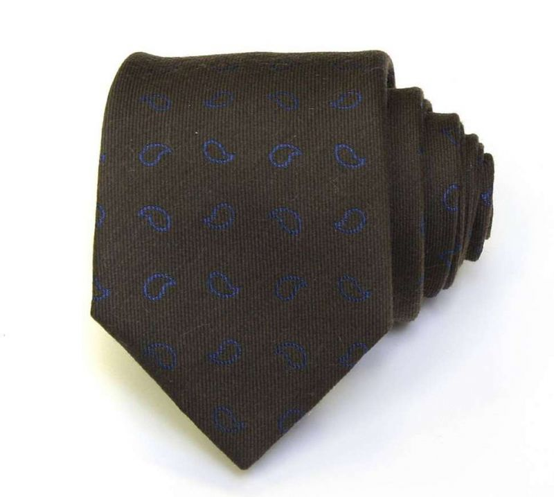 Чёрный галстук пейсли из шёлка Valentino