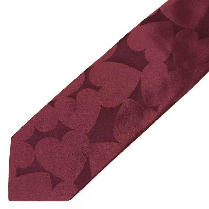 Красный шёлковый галстук Moschino с сердцами