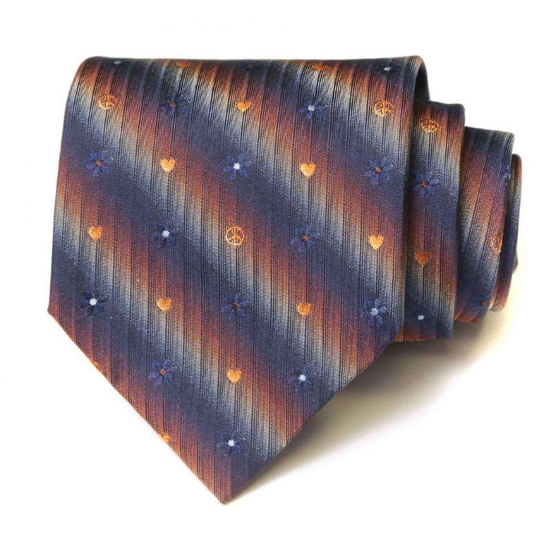 Градиентный шёлковый галстук Moschino с мелкими значками