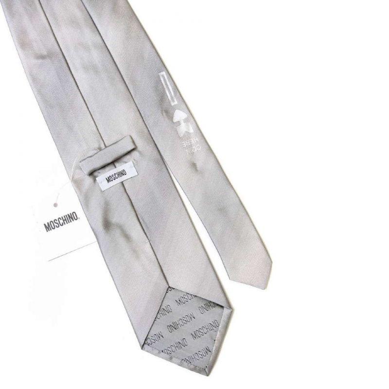 Серый галстук Moschino с обнажённой девушкой