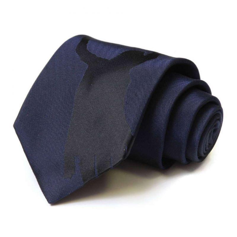 Тёмно-синий галстук Moschino с рисунком