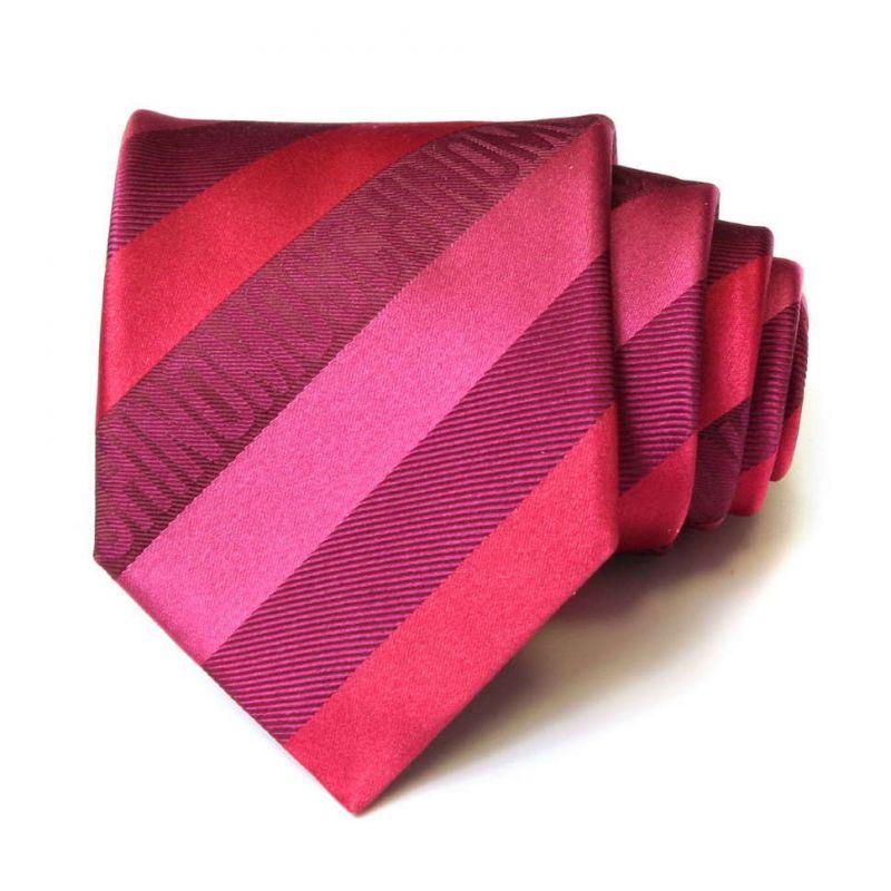 Розовый галстук Moschino в широкую полоску