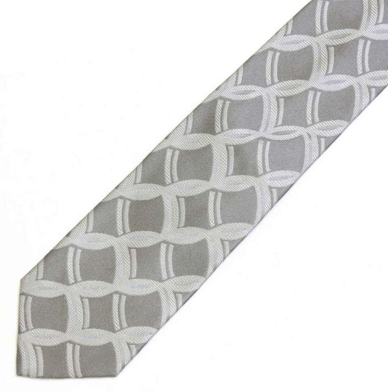Серый шёлковый галстук Moschino с узором