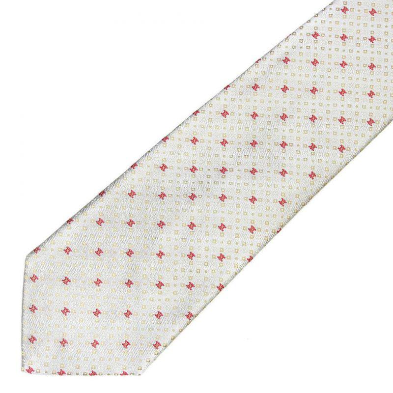 Серый шёлковый галстук с логотипами Celine