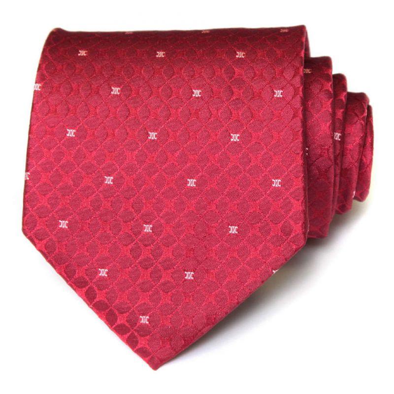Красный шёлковый галстук Celine с выделкой