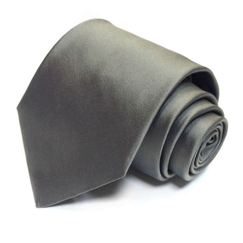 Серый однотонный галстук Celine из шёлка