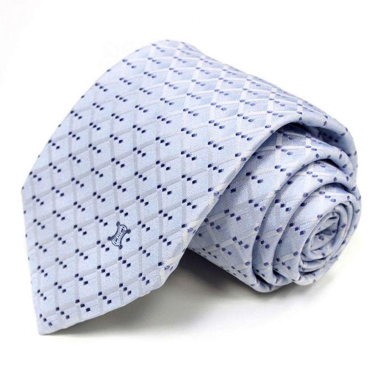Голубой галстук Celine из шёлка в клетку