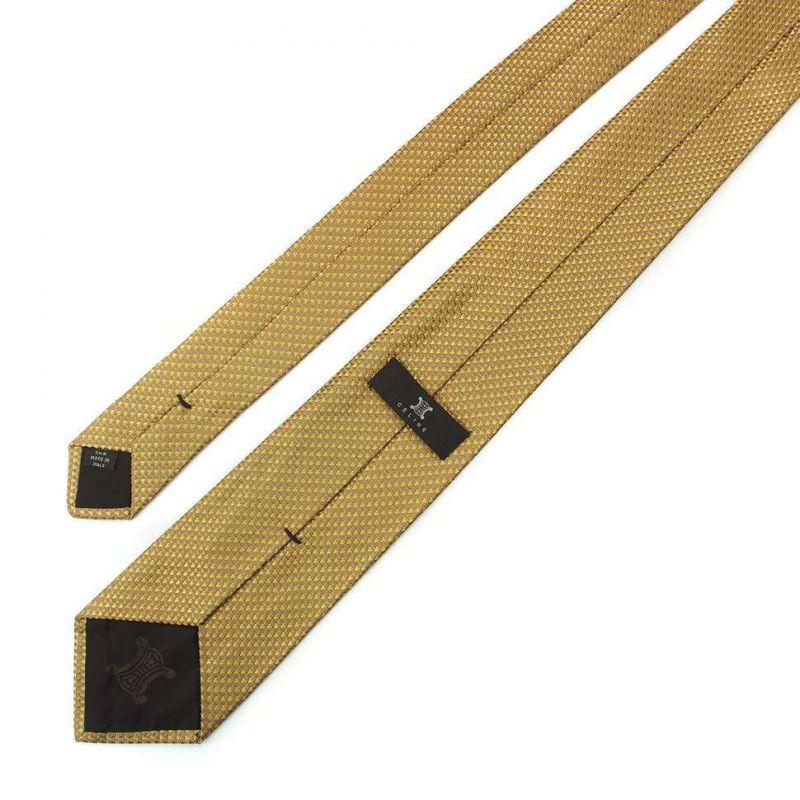 Шёлковый галстук Celine цвета охра