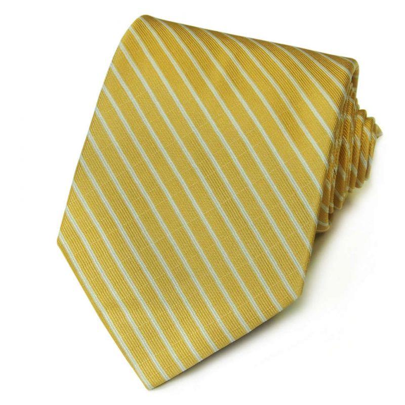Жёлтый шёлковый галстук Celine с полосками