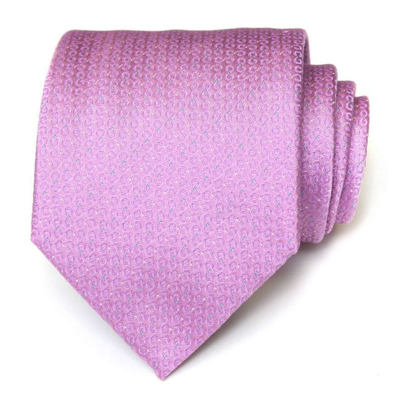 Сиреневый шёлковый галстук Celine с мелкой выделкой