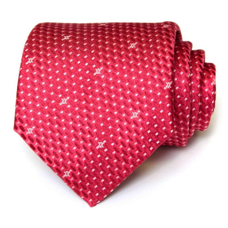 Красный шёлковый галстук Celine с графическим узором
