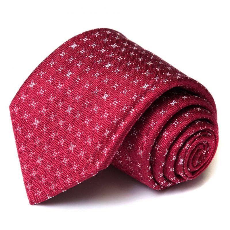 Пурпурный шёлковый галстук Celine с выделкой