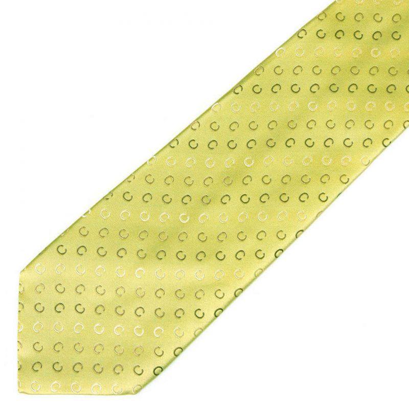 Салатовый шёлковый галстук с логотипами Celine
